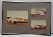 Vintage Cessna Plane Framed Collectible Photograph Wall Art Decor airplane pilot