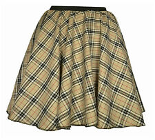 GIRLS Circle TARTAN Check Skirt ELASTICATED Waist Highland DANCE Burns Night