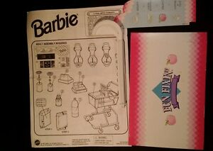 Barbie Mattel Fun Fixin'Grocer 1997 INSTRUCTIONS  ONLY