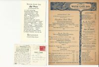 Vintage WATER GATE INN Restaurant Menu Washington D. C. 1965