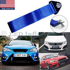 Sports Blue High Strength Racing Tow Strap Set for Front Rear Bumper Universal
