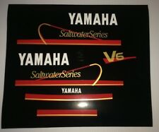 Yamaha Outboard Motor Decal Kit 150hp & 200hp V6 Mid 90s Saltwater Series Decals