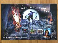 Flesh Feast PC 1998 Vintage Print Ad/Poster Official Big Box Promo Horror Rare