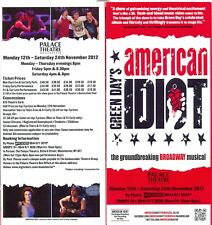 Green Day's American Idiot The musical UK Flyer For Manchester 2012