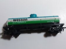 TYCO HO Scale *WESSON* Vegetable Oil Tanker Car - Used in Great Condition