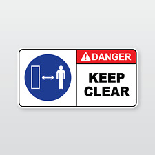 Machinery Safety Sticker: DANGER KEEP CLEAR (Sumitomo, Yanmar, Caterpillar)