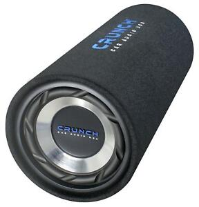 Crunch GTS-200 Tube-Subbox Bass Reflex Tube 400 Watt Subwoofer