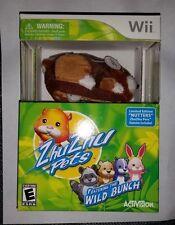 ZhuZhu Zhu Zhu Pets The Wild Bunch Bundle Nintendo Wii Limited Edition Nutters