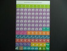 MEMORABLE DATES STICKER SHEETS - IDEAL FOR CALENDARS & DIAIRIES
