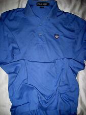Vtg Polo Ralph Lauren S/S Fine Cotton Golf Shirt-Shield Logo Patch-Periwinkle- M