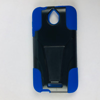 HTC Desire 510 Hybrid Phone Case Hard & Soft Rubber Protective Cover Kickstand