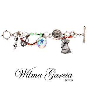 WILMA GARCIA Luxury Peace Inspired Decorative Charm Bracelet