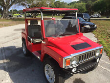 Red 2014  ACG LSV Hummer Golf Cart 4 Passenger Seat Custom Street Legal Canopy