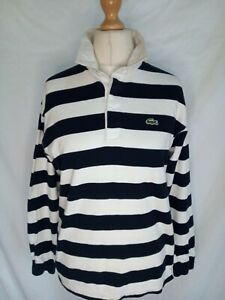 LACOSTE VINTAGE LONG SLEEVE RUGBY POLO SHIRT LARGE AUTHENTIC