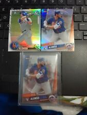 2016 1st Bowman Chrome Refractor RC Pete Alonso Mets + 2 more rookie cards