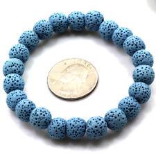 "Wholesale 7.5"" Lava Round Beads Bracelet Elastic Stretch Bangle 6mm 8mm 10mm"