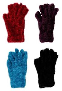 LADIES Feather Gloves Winter Clothing Super Soft Girls Thermal Stretchable Warm