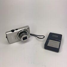 Canon PowerShot ELPH 310 HS Digital Camera 12.1MP Silver 2 Batteries + Charger