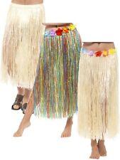 Adults Hawaiian Hula Skirt With Flowers -beach Party Fancy Dress Accessory 44591