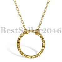 Ewigkeit Kreis immer lieben Anhänger 925 Sterling Silber Halskette Damen