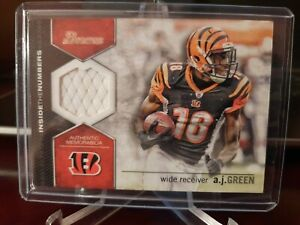 2012 Bowman Inside the Numbers Relics AJ Green #ITNR-AG