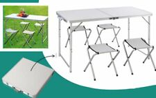 Folding Camping Table Portable Picnic Outdoor Garden BBQ Height Adjustable