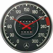 Nostalgic Art Wall Clock Mercedes Retro Speedometer