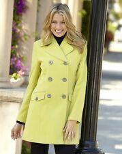 REEFER jacket/coat in wool like fabric size 14 lime ref rail 17