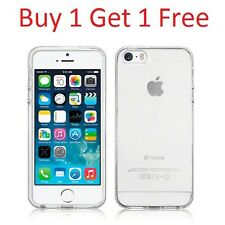 TPU Silicone Skin Jelly Case Back Cover for New iPhone 5/5S/SE Clear Transparent