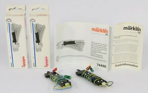 2x MARKLIN HO 74490 TURNOUT MECHANISMS POINT MOTOR SOLENOIDS TESTED WORKING
