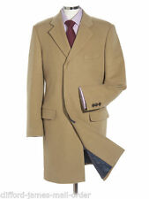 Cashmere Button Long Coats & Jackets Overcoat for Men