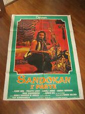 Manifesto 1976 SANDOKAN PARTE 2, KABIR BEDI,SOLLIMA,LEROY ANDRE',CELI