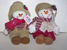 Plushland Diabetes snowmen beanbag Heaven stuffed plush 2006 cure bear set 2