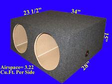 """2 HOLE 15"""" EXTRA DEEP GREY SUBWOOFER SUB SPEAKER ENCLOSURE BOX"""