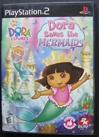 DORA SAVES THE MERMAIDS PS2 SONY PLAYSTATION 2 WORKING