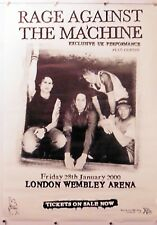 RAGE AGAINST THE MACHINE UK CONCERT POSTER WEMBLEY ARENA rare NOS (b195)