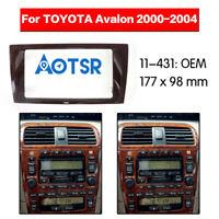2 Din Car Radio Fascia Stereo DVD Panel kit Frame for Toyota Avalon 2000-2004
