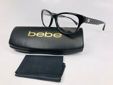 1fb8bbbfcb New bebe BB5099 001 Black Eyeglasses with Quilted Temples 51mm with bebe  Case