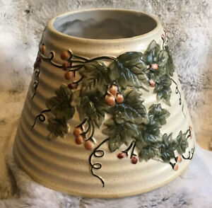 """Yankee Candle Garden IVy w/ Berries Large Candle Shade Ceramics 4.5""""H"""