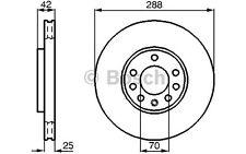 BOSCH Juego de 2 discos freno Antes 288mm ventilado OPEL VECTRA 0 986 478 588