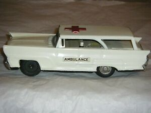 Vintage Tin Friction  Ambulance--For Parts Or Repair