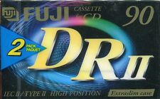 2x FUJI DR II Chrome 90 Extraslim Tape Cassette for CD Kassette NEU/Sealed