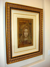 CSABA MARKUS ILLYRIAN PRINCESS ORIGINAL OIL Painting on Paper RARE SOLD OUT