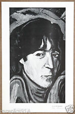 John Lennon Rare Vintage Original Hand Signed Lithograph by Artist Ron Neumann