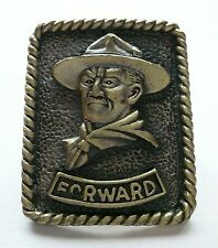 SCOUTS OF CHINA (TAIWAN) World Scout Founder Lord Baden Powell Metal N/C Woggle
