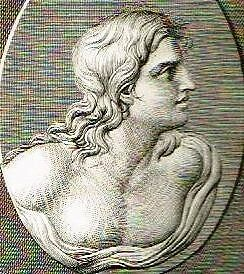 """Mongey's """"GALLERIE DE FLORENCE"""" -1819- Copper Engraving -CAMEO BUST OF YOUNG MAN"""