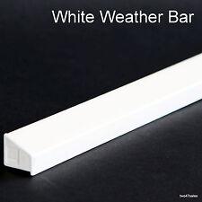 WHITE Weather Rain Deflector Drip Bar upvc Door Window wood guard weatherbar pvc