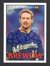 2016 HERITAGE #525 Alex Presley  MILWAUKEE BREWERS  SIGNED AUTOGRAPH AUTO COA