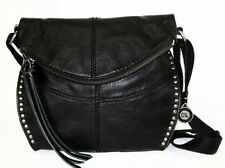 "THE SAK ""Silverlake"" Black Leather Cross Body Bag Msrp $189.00"