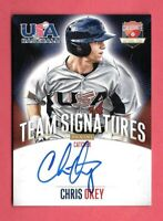 2014 Chris Okey Panini USA Baseball Rookie Auto /399 - Cincinnati Reds